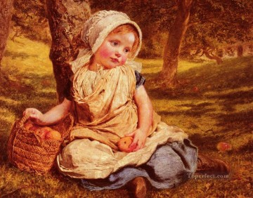 Gengembre Windfalls genre Sophie Gengembre Anderson Oil Paintings