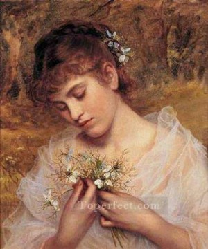 Artworks by 350 Famous Artists Painting - Love In a Mist genre Sophie Gengembre Anderson
