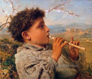 Artworks by 350 Famous Artists Painting - Shepherd Piper 1881 genre Sophie Gengembre Anderson