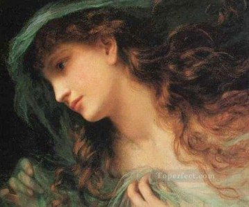 Sophie Gengembre Anderson Painting - The Head Of A Nymph genre Sophie Gengembre Anderson