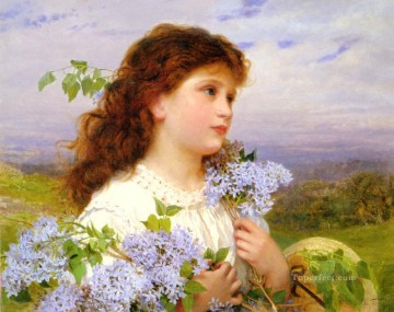 Sophie Painting - The Time Of The Lilacs genre Sophie Gengembre Anderson