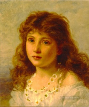 Artworks by 350 Famous Artists Painting - Young Girl genre Sophie Gengembre Anderson