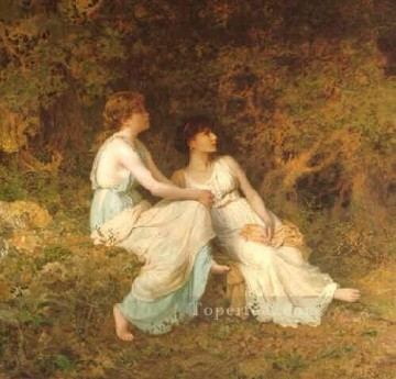Birdsong genre Sophie Gengembre Anderson Oil Paintings