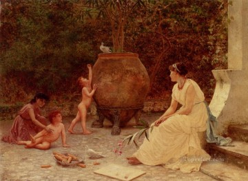When The Heart Is Young genre Sophie Gengembre Anderson Oil Paintings