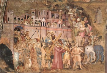 Andrea da Firenze Painting - Christ Bearing The Cross To Calvary Quattrocento painter Andrea da Firenze