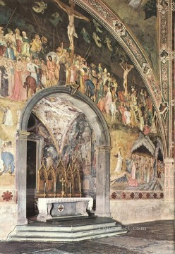 Andrea da Firenze Painting - Frescoes On The Central Wall Quattrocento painter Andrea da Firenze