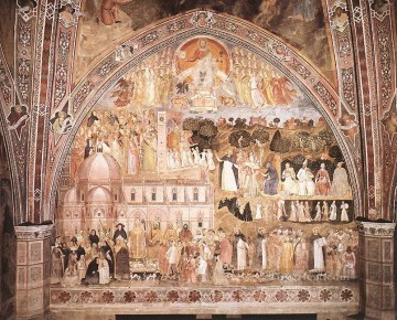 The Church Militant And Triumphant 1365 Quattrocento painter Andrea da Firenze Oil Paintings