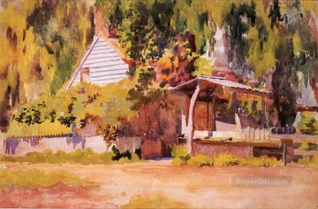 Pollock Canvas - The Summer House naturalistic Thomas Pollock Anshutz