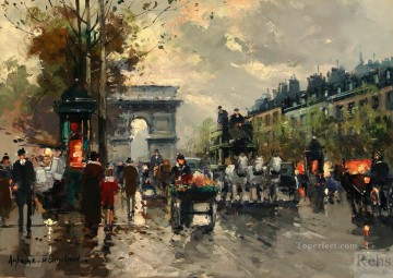 Triomphe Painting - antoine blanchard champs elysees arc de triomphe