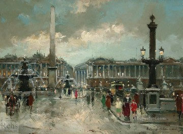 antoine blanchard place de la concorde 2 Oil Paintings