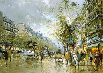 antoine blanchard boulevard des capucines 1 Oil Paintings