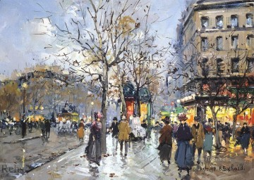 antoine blanchard boulevard haussmann 1 Oil Paintings