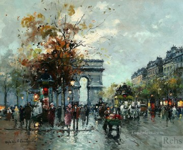 Triomphe Painting - antoine blanchard champs elysees arc de triomphe 1