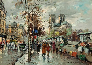 Antoine Blanchard Painting - antoine blanchard notre dame les bouquinistes