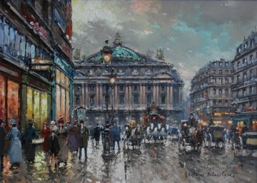 PARIS Painting - antoine blanchard paris lopera