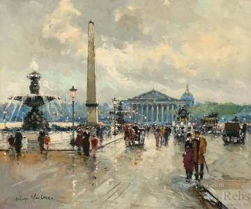 antoine blanchard place de la concorde 3 Oil Paintings