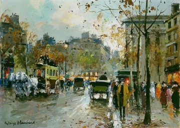 Made Oil Painting - antoine blanchard place de la madeleine 1