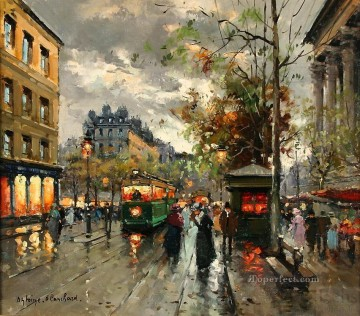 Made Oil Painting - antoine blanchard place de la madeleine 3