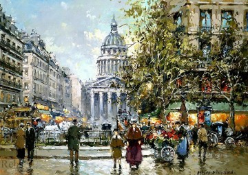 Antoine Blanchard Painting - antoine blanchard place du luxembourg le pantheon