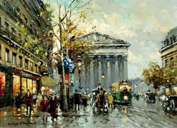 Made Oil Painting - antoine blanchard rue royal madeleine 1