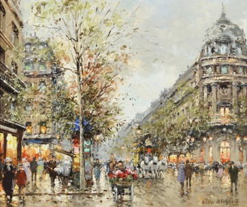antoine blanchard Paris Boulevard Capucines Oil Paintings