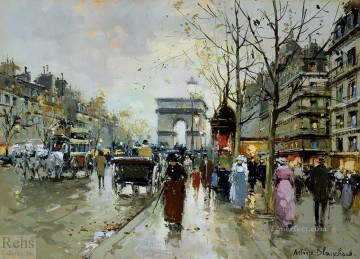 antoine blanchard champs elysees 1 Oil Paintings