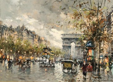 Triomphe Painting - antoine blanchard champs elysees arc de triomphe 2