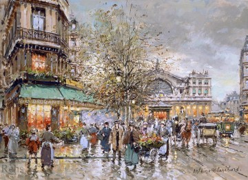 antoine blanchard gare de lest Oil Paintings