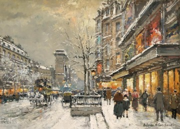 grand Painting - antoine blanchard grands boulevards 1
