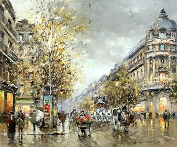 grand Painting - antoine blanchard grands boulevards