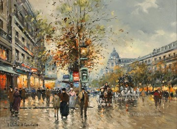 grand Painting - antoine blanchard les grands boulevards