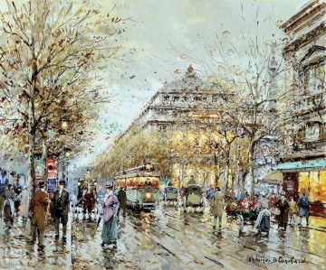 Paris Painting - antoine blanchard paris la chatelet
