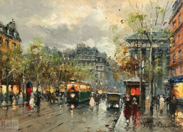 Made Oil Painting - antoine blanchard place de la madeleine 4