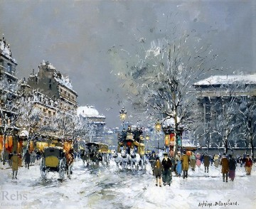 antoine blanchard place de la madeleine hiver Oil Paintings