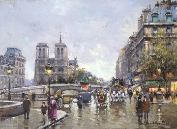 antoine blanchard pont saint michel notre dame Oil Paintings