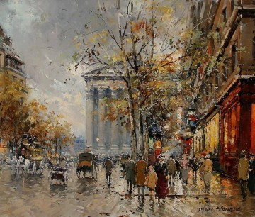 Made Oil Painting - antoine blanchard rue royal madeleine 5