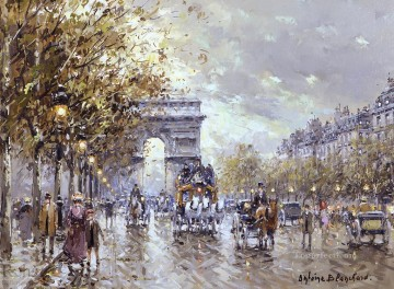 Paris Painting - antoine blanchard paris l arc de triomphe