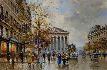 Made Oil Painting - antoine blanchard rue royal madeleine 3