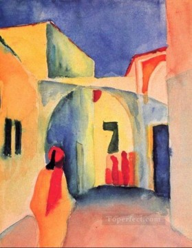 A Street August Macke Oil Paintings