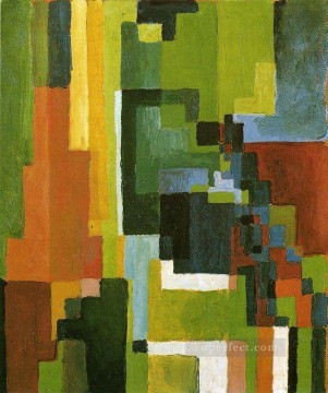 Coloured Forms II August Macke Oil Paintings