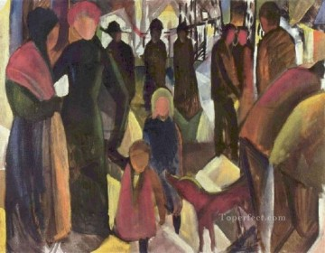 Departure August Macke Oil Paintings