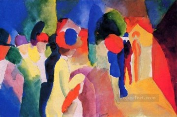 Girl With A Yellow Jacket August Macke Oil Paintings