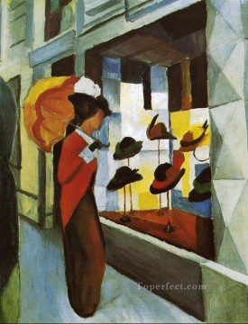 Hat Shop Hutladen August Macke Oil Paintings