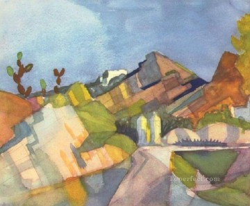 Rocky Landscape August Macke Oil Paintings