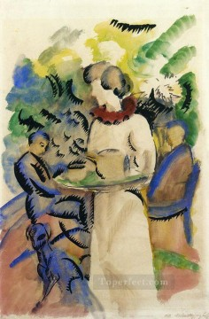 Afternoon in the Garden August Macke Oil Paintings