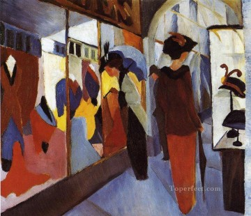 Fashion Shop Modegeschaft August Macke Oil Paintings