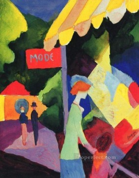 Fashion Store Window August Macke Oil Paintings