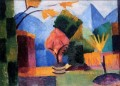 Garden At The Thuner Lake August Macke