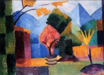 Garden At The Thuner Lake August Macke Oil Paintings