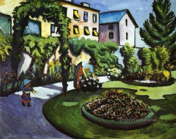 Garden Picture August Macke Oil Paintings